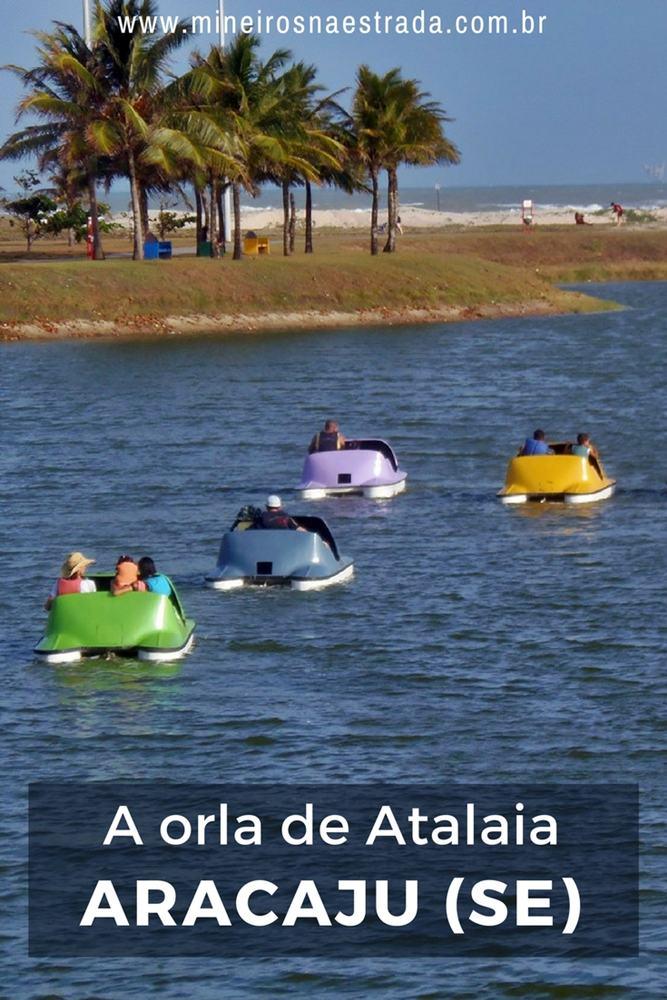 Na orla da praia de Atalaia, em Aracaju, há opções de lazer para todas as idades: pedalinho, pista de cooper, parquinho, bicicleta familiar são alguns exemplos.