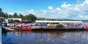Indo de Porto Seguro para Arraial d'Ajuda – travessia de balsa