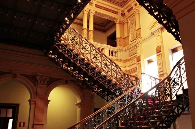 Interior do Memorial Minas Vale, um dos componentes do Circuito Cultural Praça da Liberdade. É um prédio tombado pelo Instituto Estadual do Patrimônio Artístico e Cultural de Minas Gerais.
