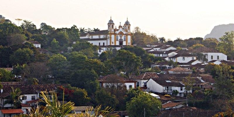 Igreja Matriz de Santo Antônio, vista da Igreja São Francisco de Assis, em Tiradentes.