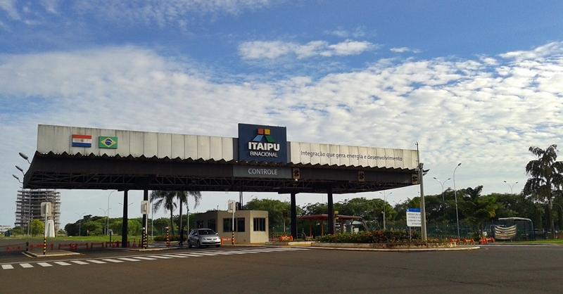 Entrada brasileira de Itaipu Binacional, que é território do Brasil e do Paraguai.
