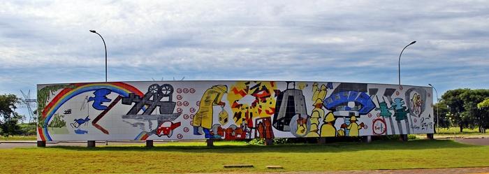 Painel do Barrageiro, em homenagem aos trabalhadores de Itaipu Binacional.