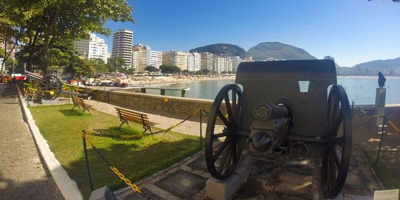 Visita ao Forte de Copacabana, no Rio de Janeiro