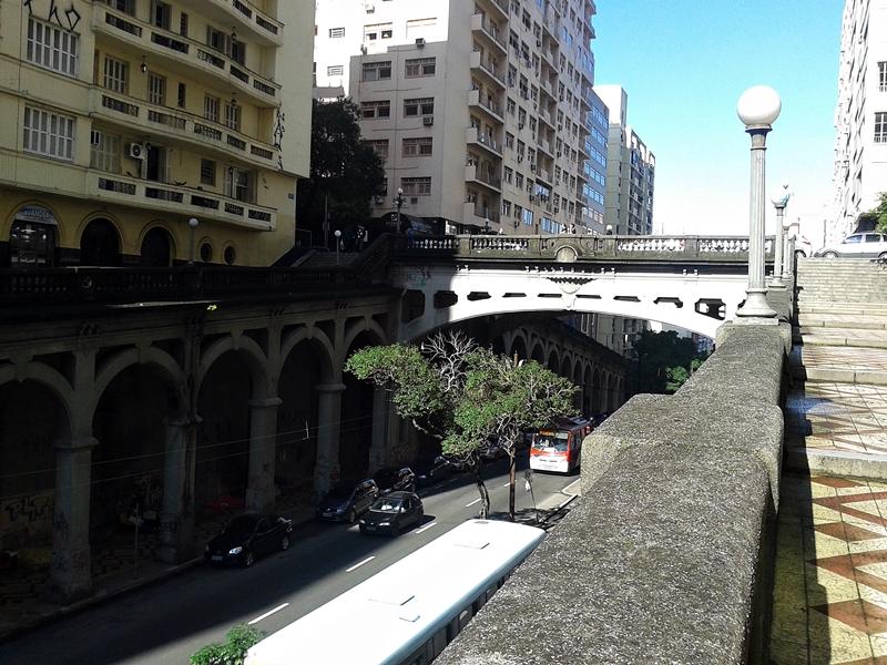 Viaduto Otávio Rocha, no Centro Histórico