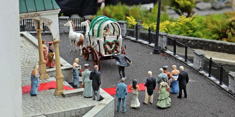 O casamento, com carruagem e tudo