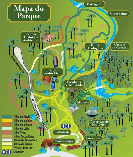 mapa parque caracol