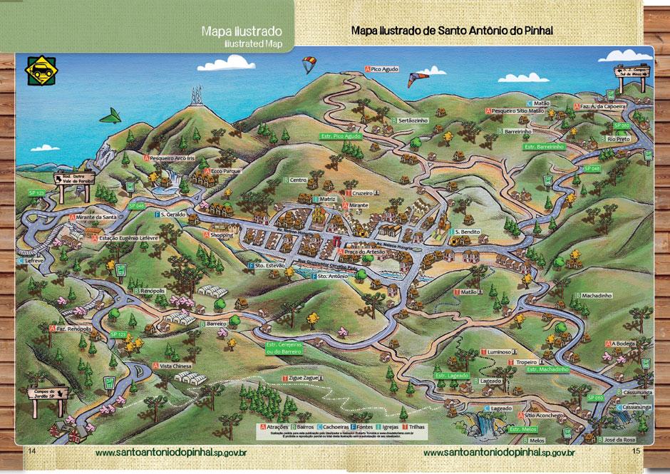 mapa santo antonio do pinhal