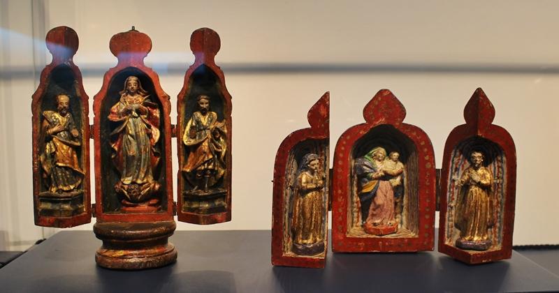 Oratórios bala exposto no Museu do Oratório, em Preto.