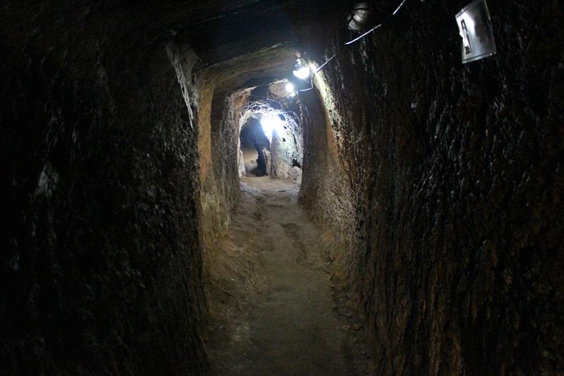 Mina Chico Rei, uma mina de ouro do século XVIII, aberta à visitação, em Ouro Preto.