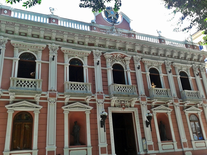 Palácio Cruz e Sousa, no Centro Histórico de Florianópolis, antiga sede do governo estadual de Santa Catarina.