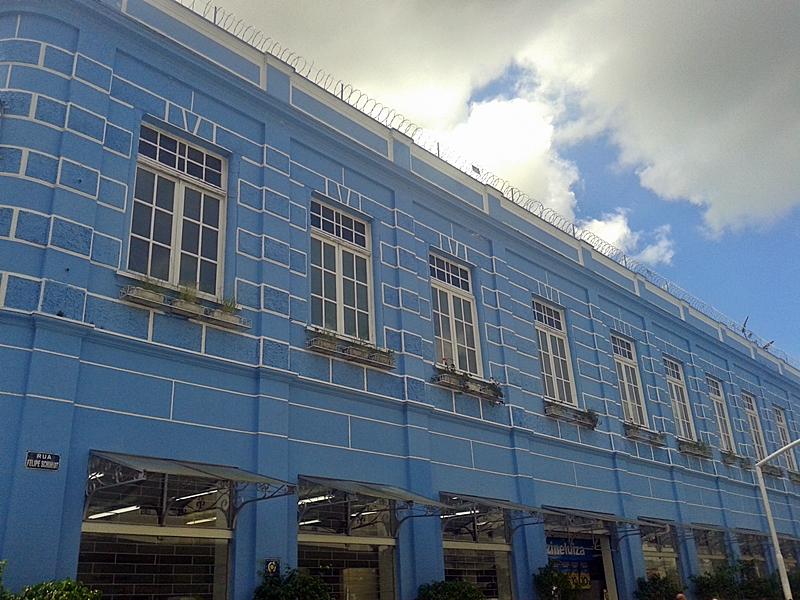 Prédio histórico na rua Felipe Schmidt, no centro histórico de Florianópolis.