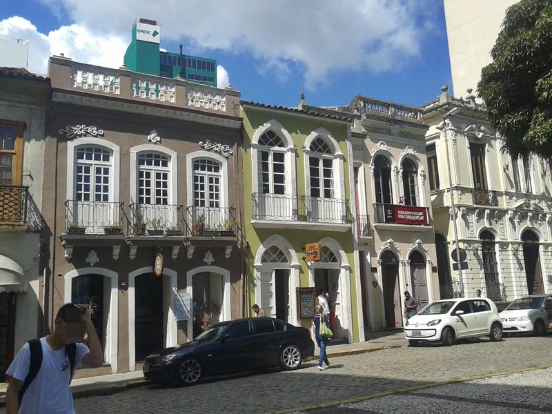 Sobrados Oitocentistas, no Largo da Catedral, no Centro Histórico de Florianópolis.