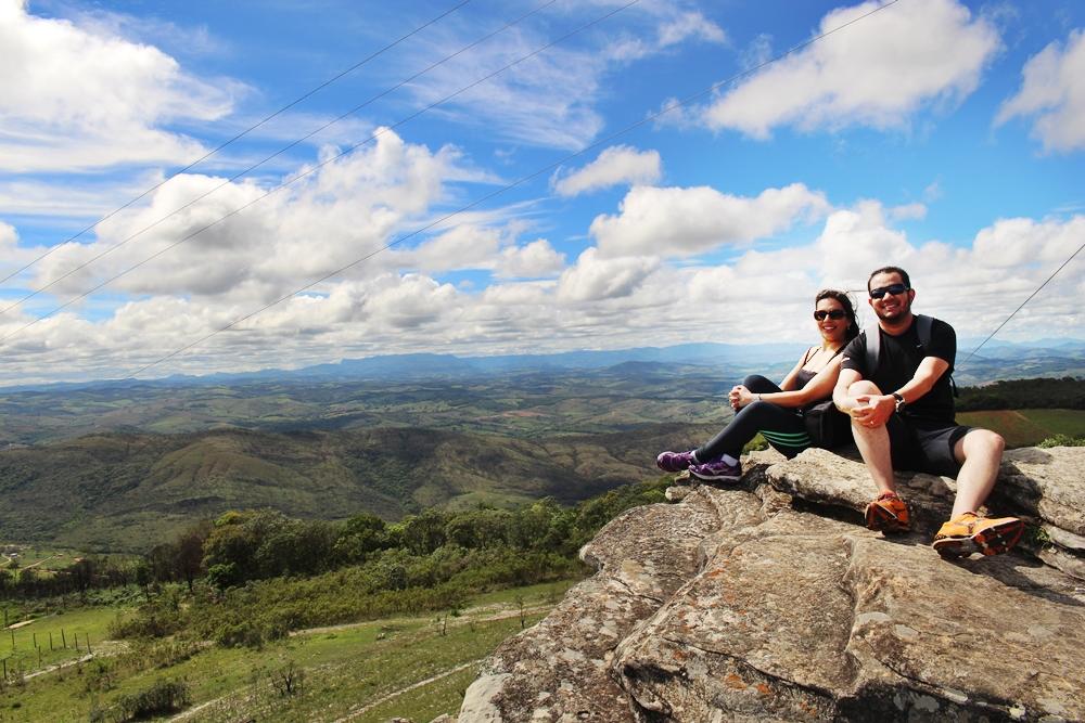 Montanhas ao redor de São Thomé das Letras, vista do Mirante, no Parque Municipal Antônio Rosa. São Thomé é uma ótima opção para descansar e namorar.
