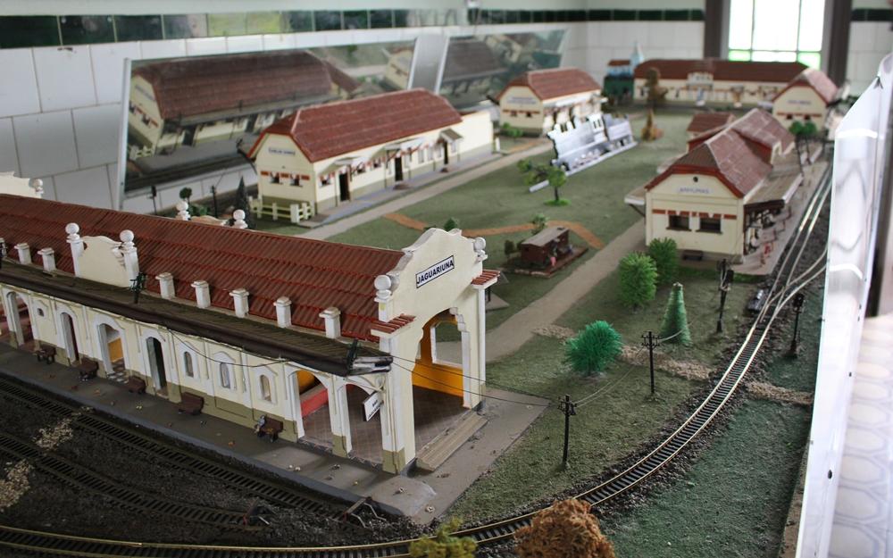 Maquete na Estação Ferroviária de Anhumas, em Campinas.