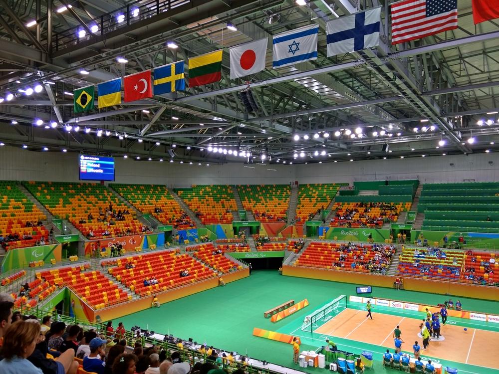 Arena do Futuro, onde estão acontecendo as partidas de goalball