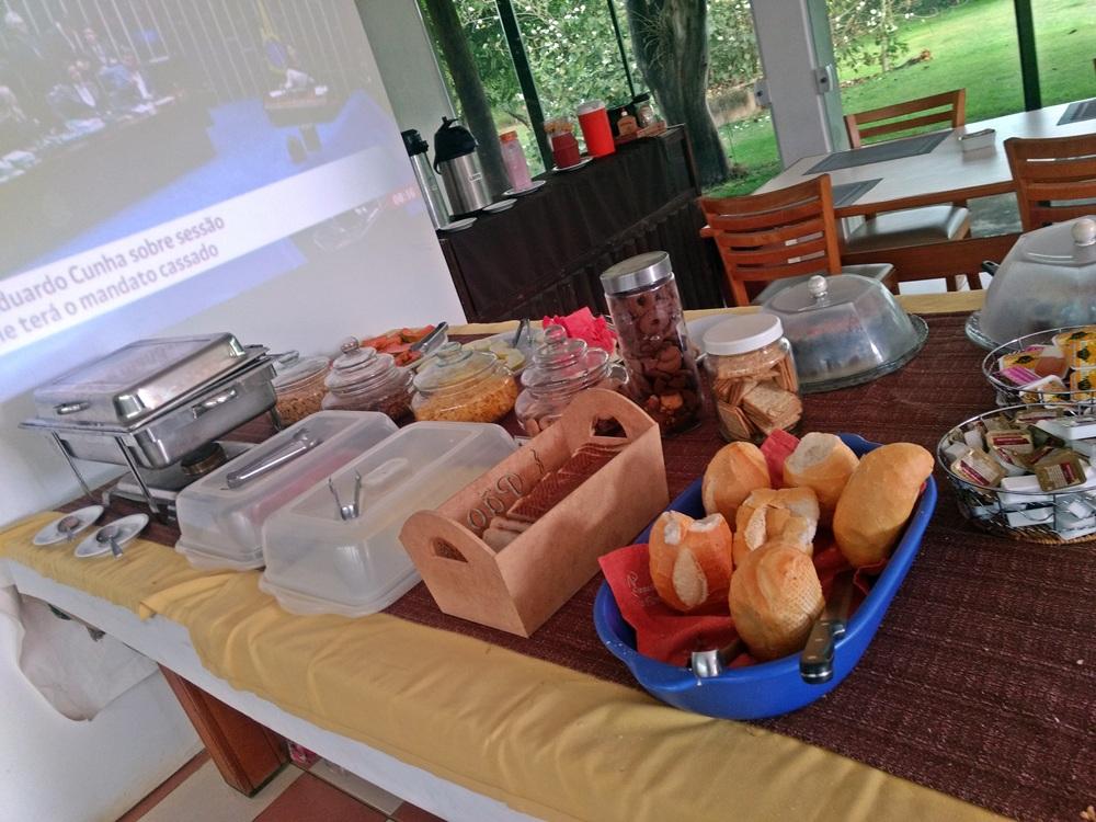 Café da manhã do Parque Hotel Holambra