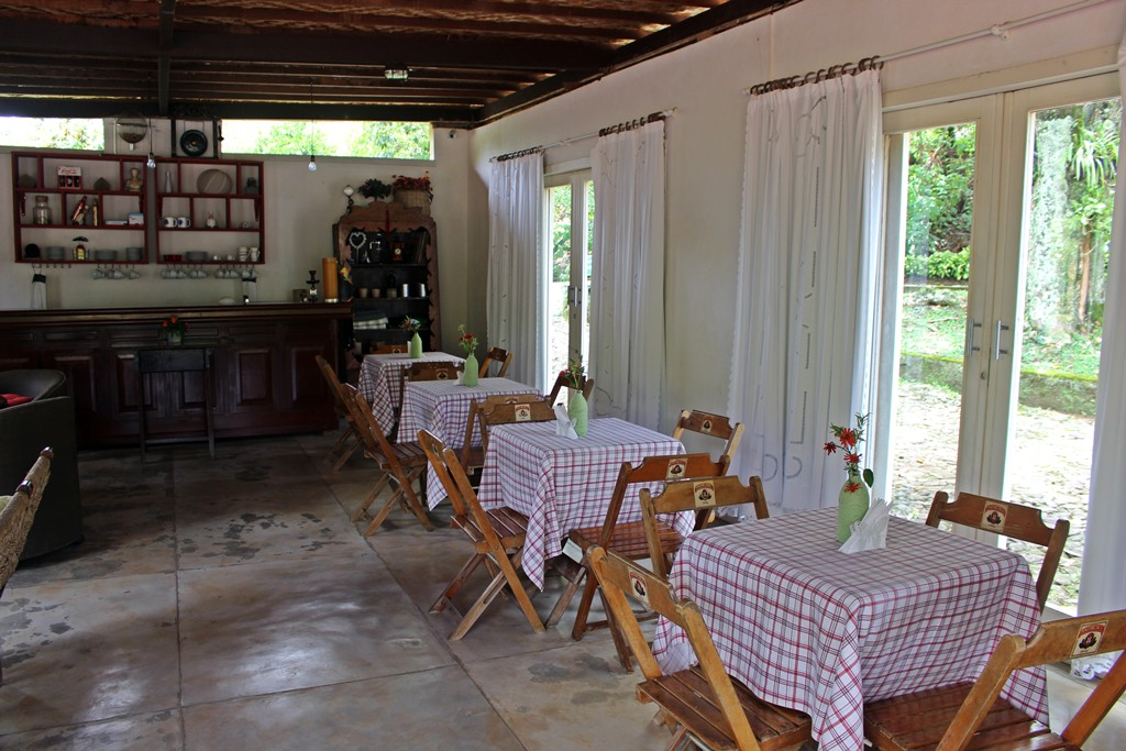Casa onde é servido o chá das cinco na Fazenda Santa Marina.