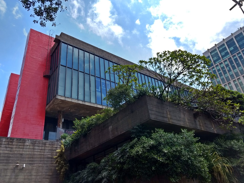 Masp, Museu de Arte de São Paulo, visto próximo do Mirante da 9 de Julho