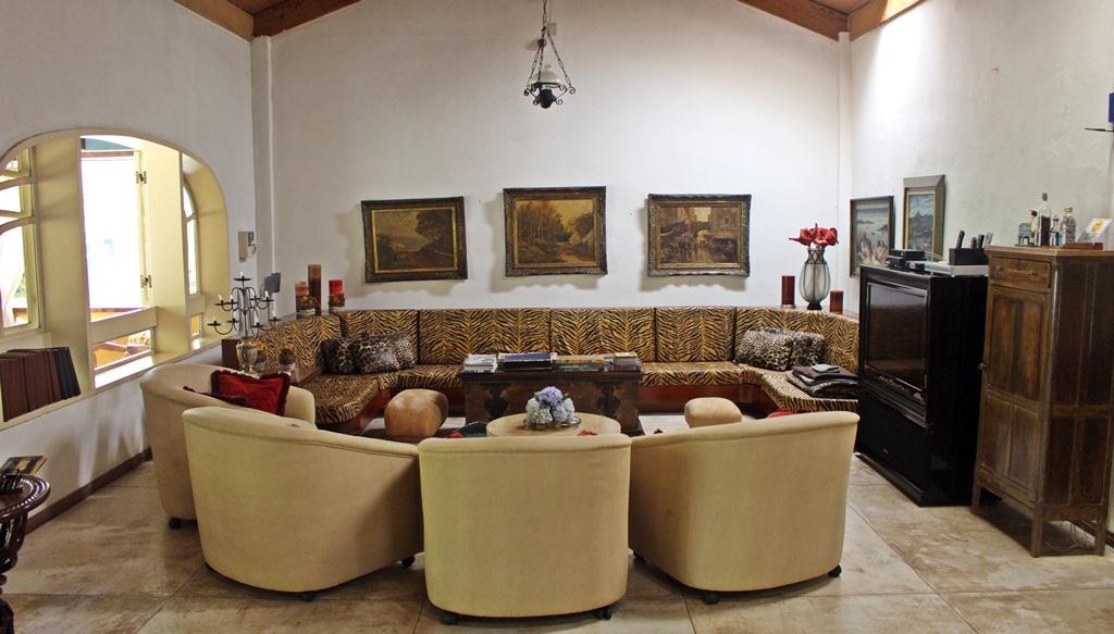 Sala de TV da Casa de Hóspedes da Fazenda Santa Marina