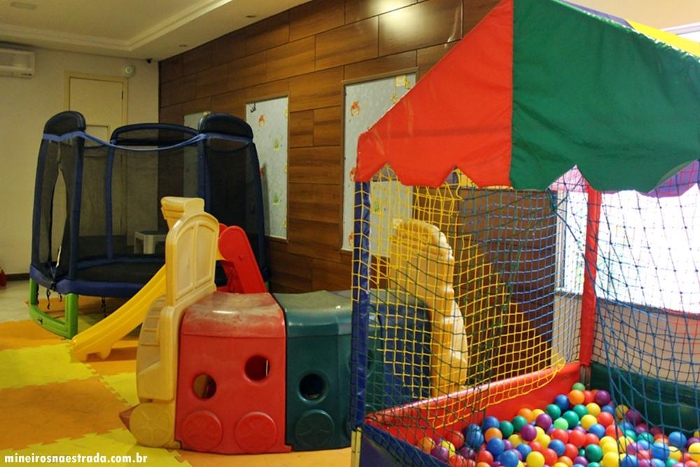 Brinquedos infantis no Best Western Tarobá Hotel, uma excelente opção de hospedagem em Foz do Iguaçu.