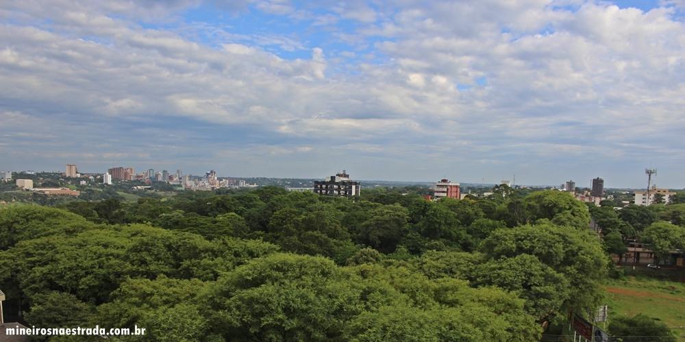 Vista do último andar do Best Western Tarobá Hotel, uma excelente opção de hospedagem em Foz do Iguaçu.