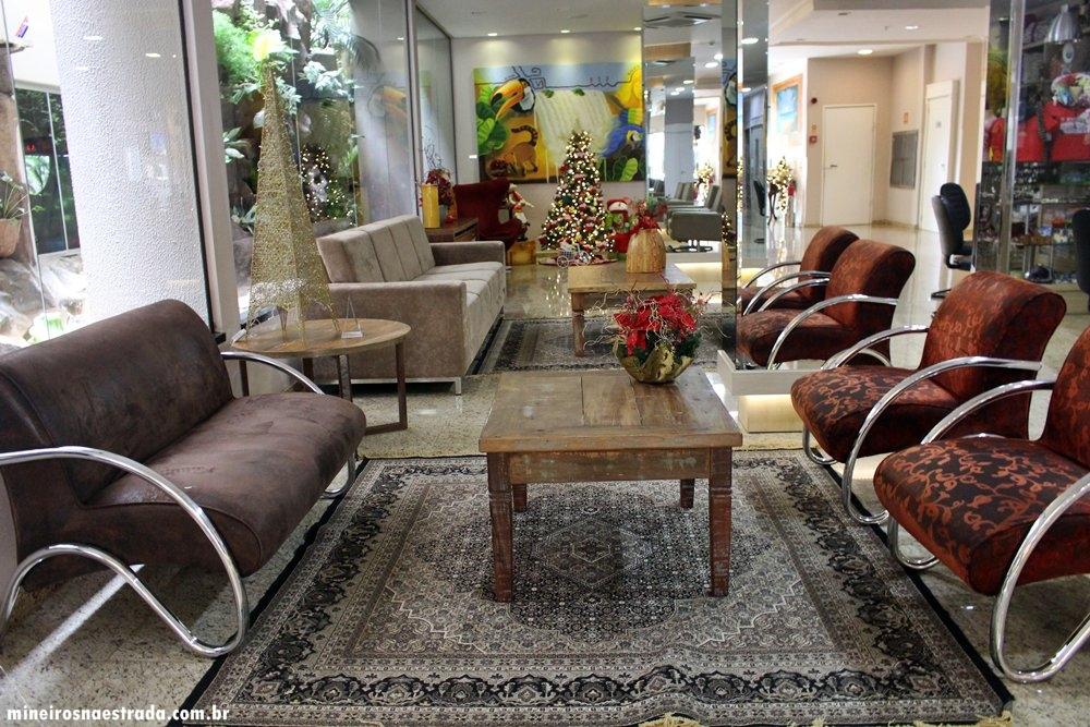 Hall do Best Western Tarobá Hotel, uma excelente opção de hospedagem em Foz do Iguaçu.
