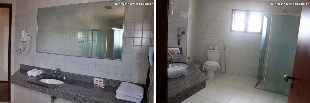 Banheiro da suíte máster do Monreale Resort Hotel, em Poços de Caldas.
