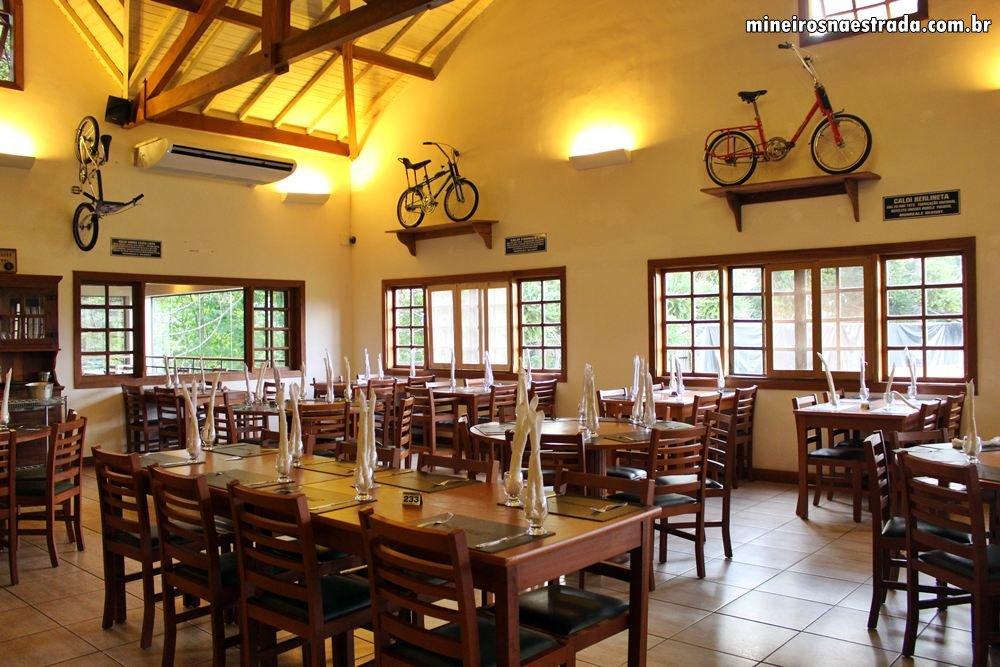 Restaurante onde são servidas as refeições, inclusas na diária do Monreale Resort Hotel, em Poços de Caldas.