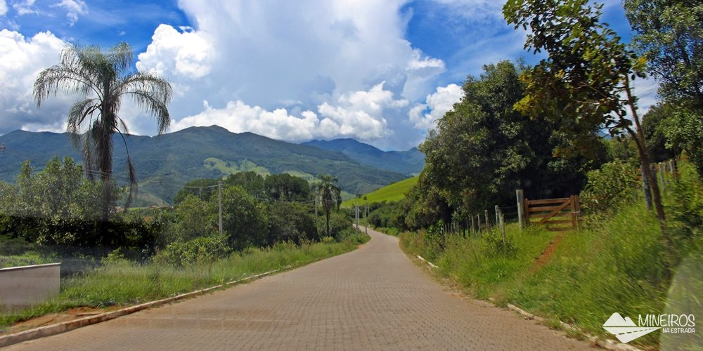 Estrada que leva até a Pousada Vila Minas, em Itanhandu, sul de Minas Gerais.