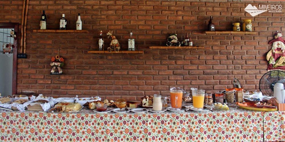 Café da manhã da Pousada Vila Minas, em Itanhandu, sul de Minas Gerais.