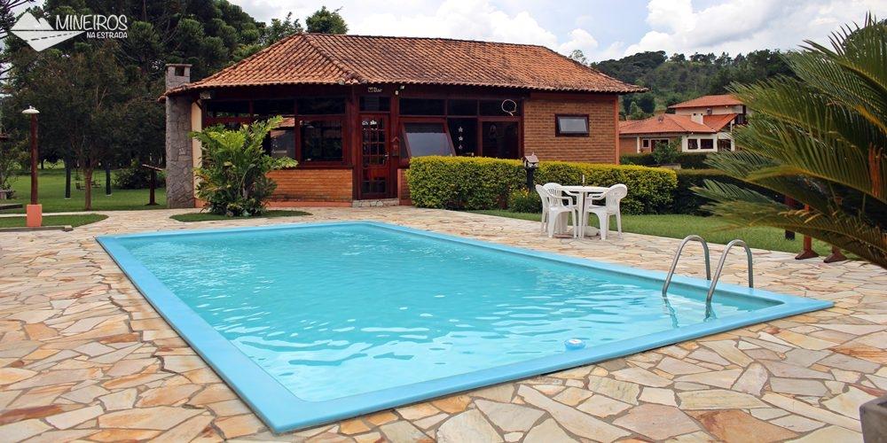 Piscina da Pousada Vila Minas, em Itanhandu, sul de Minas Gerais.
