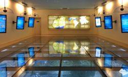 Super maquete com paineis interativos do Ecomuseu de Itaipu Binacional, em Foz do Iguaçu.