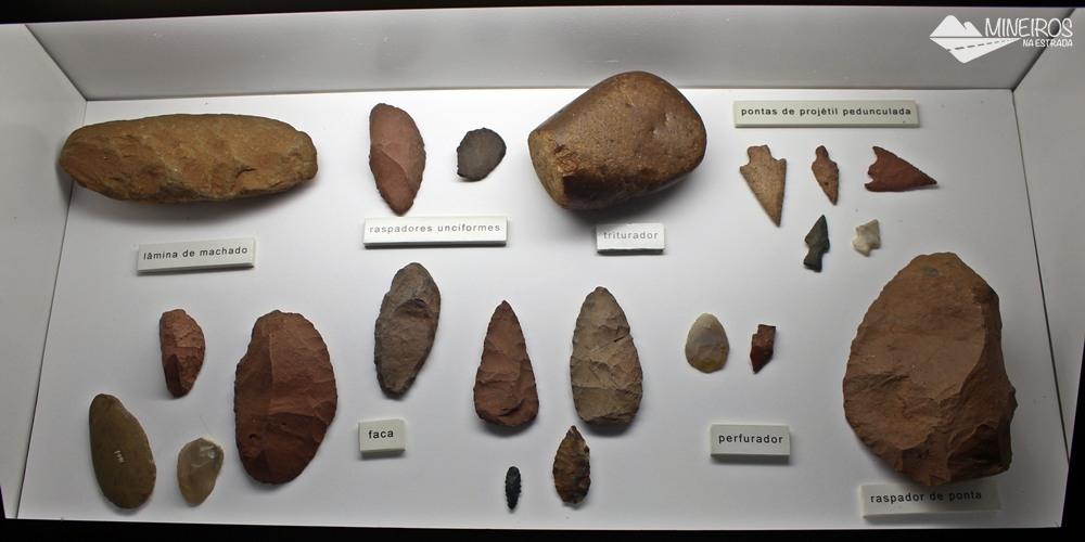 Achados arqueológico na região de Itaipu Binacional, expostos no Ecomuseu.