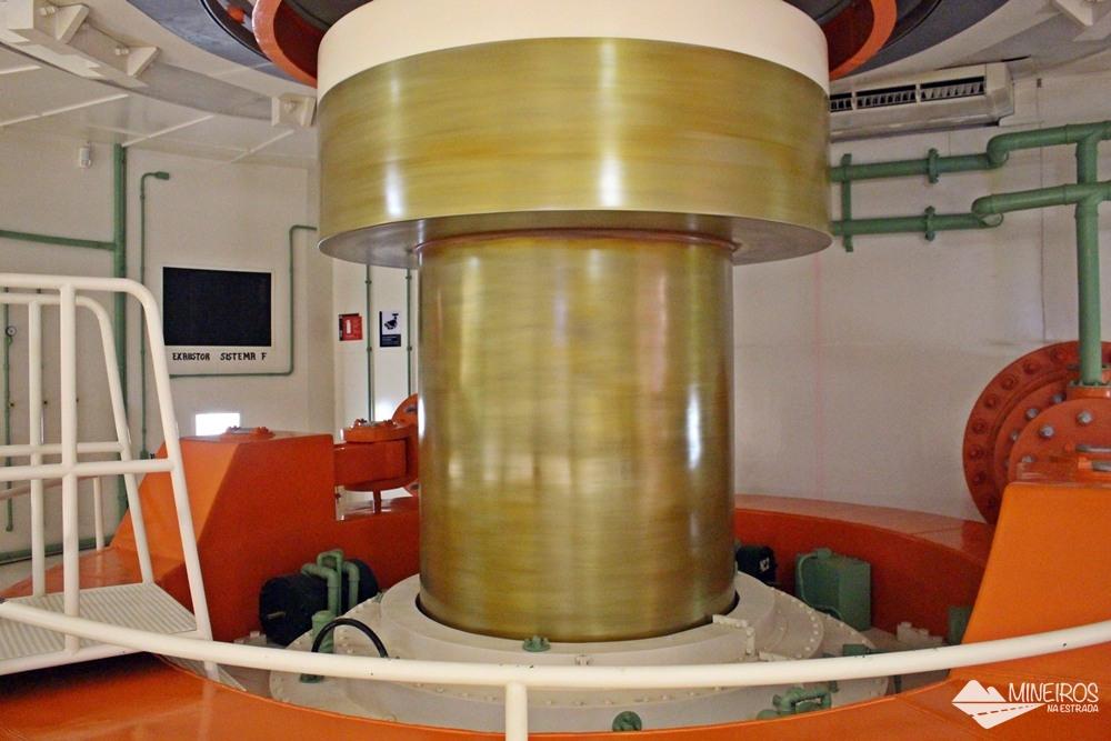 Réplica do eixo da turbina em exposição no Ecomuseu, de Itaipu Binacional, em Foz do Iguaçu.
