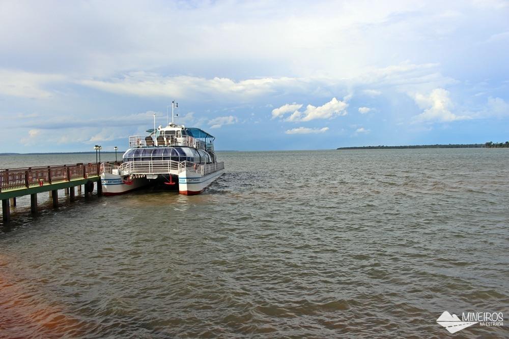 Porto Kattamaran, uma das atrações turísticas de Itaipu Binacional e também a terceira parada da Visita Panorâmica à usina hidrelétrica, localizada em Foz do Iguaçu.