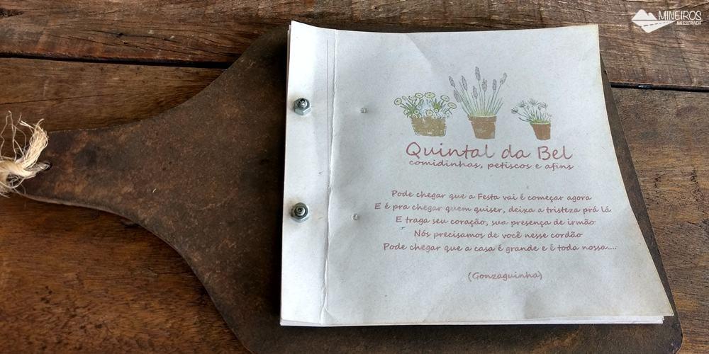 Quintal da Bel, restaurante a la carte no centro de Gonçalves, sul de Minas Gerais.