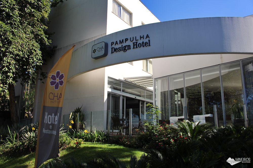 Fachada do Pampulha Design Hotel, um hotel localizado na orla da Lagoa da Pampulha, em Belo Horizonte.