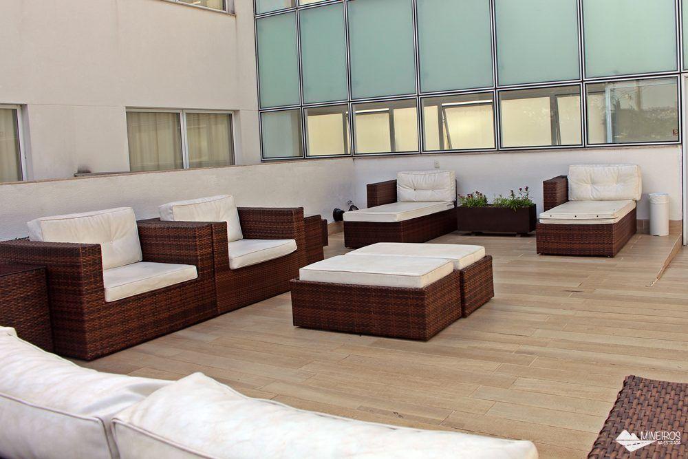 Solário do Pampulha Design Hotel, um hotel localizado na orla da Lagoa da Pampulha, em Belo Horizonte.