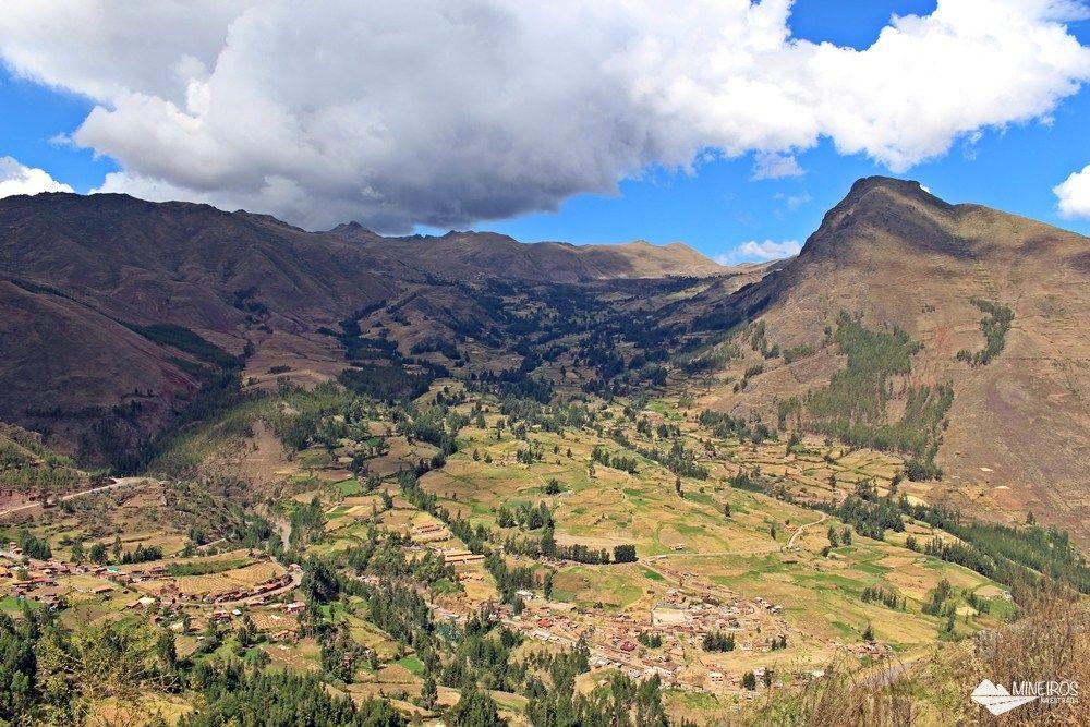 Pisaq, um sítio arqueológico no Vale Sagrado, próximo a Cusco.