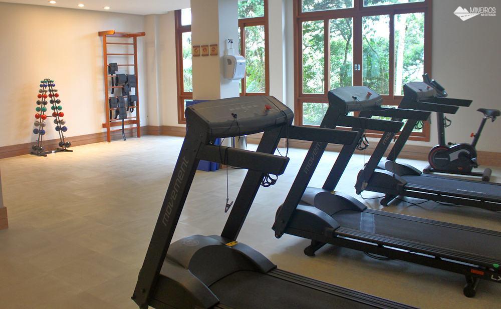 Academia do Bristol Vista Azul, hotel em Domingos Martins, região das montanhas capixabas.