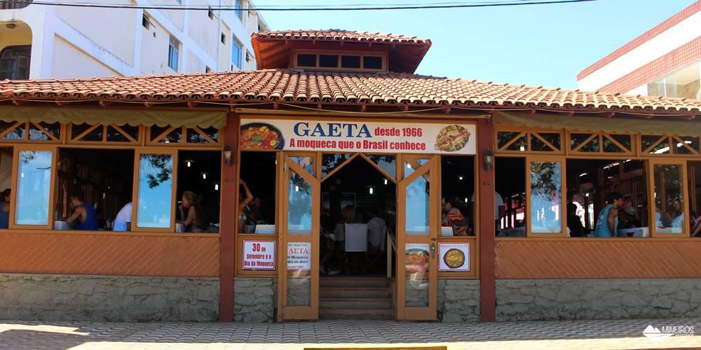 Fachada do Restaurante GAeta, em Guarapari, famoso pela moqueca de Nhozinho Matos