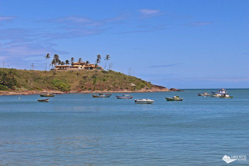 Praia de Meaípe, em frente ao restaurante Gaeta, em Guarapari.