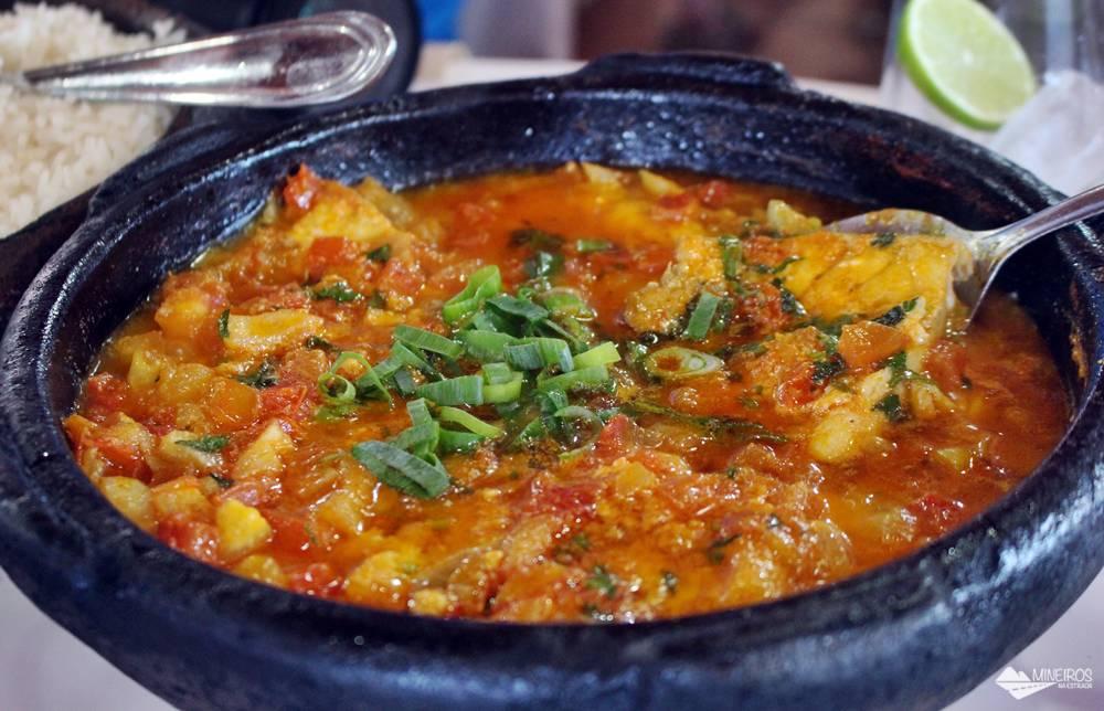 Moqueca capixaba do Restaurante Gaeta, famoso pelo moquequeiro Nhozinho Matos. O restaurante fica em Meaípe, Guarapari.