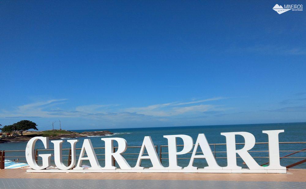 Letreiro no Centro de Guarapari, no Espírito Santo
