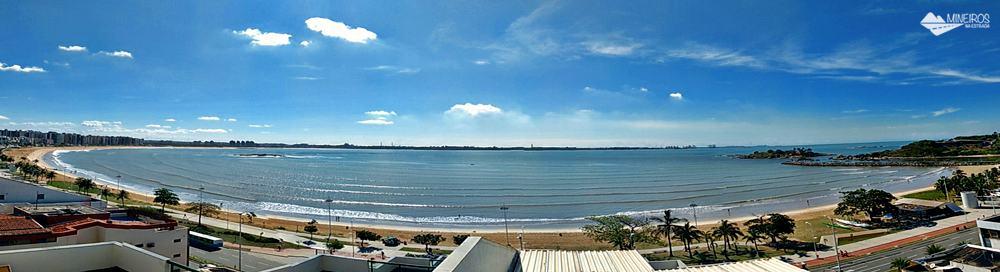 Panorâmica da vista da cobertura do Bourbon Vitória Residence Hotel, na Praia de Camburi.