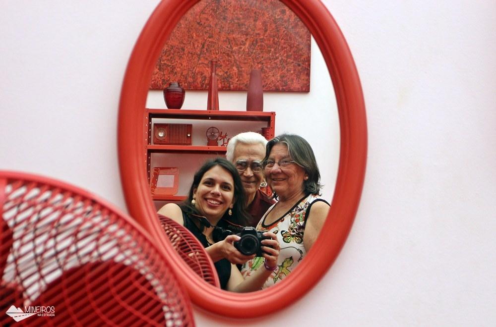 Tudo vermelho na Galeria Cildo Meirelles, no Inhotim, em Minas Gerais.