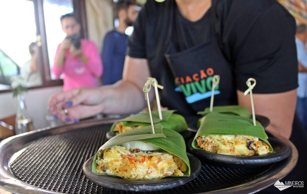Torta Capixaba preparada por André Cicilioti, do Restaurante Recanto da Pedra, em Iriri, Espírito Santo.