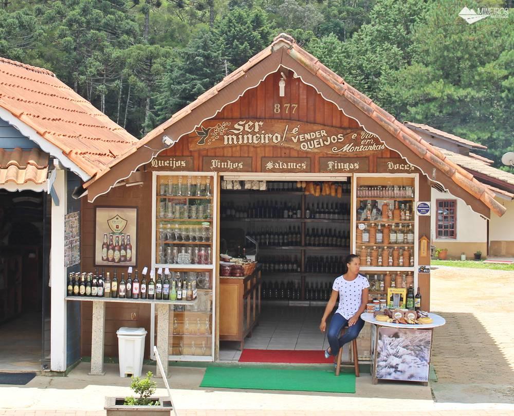 Loja de queijos e doces em Monte Verde.