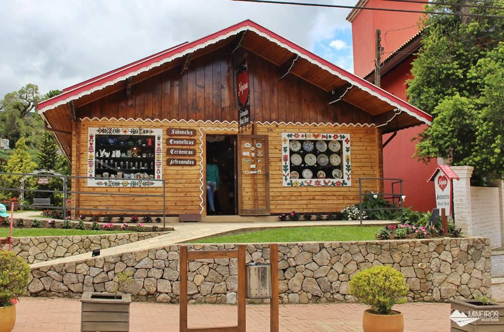 Loja de artesanato em Monte Verde, sul de Minas Gerais.