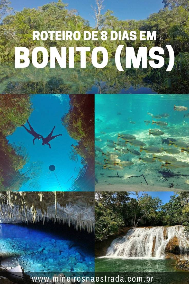 Nosso roteiro de 8 dias em Bonito. Como organizamos nossas atividades com flutuações, grutas, cachoeiras e aventura!